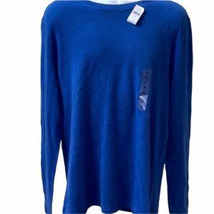 GAP Long Sleeve Blue Cotton Shirt
